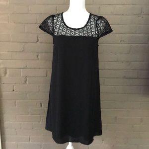 Doe & Rae  NWT Black Lace Top Dress M